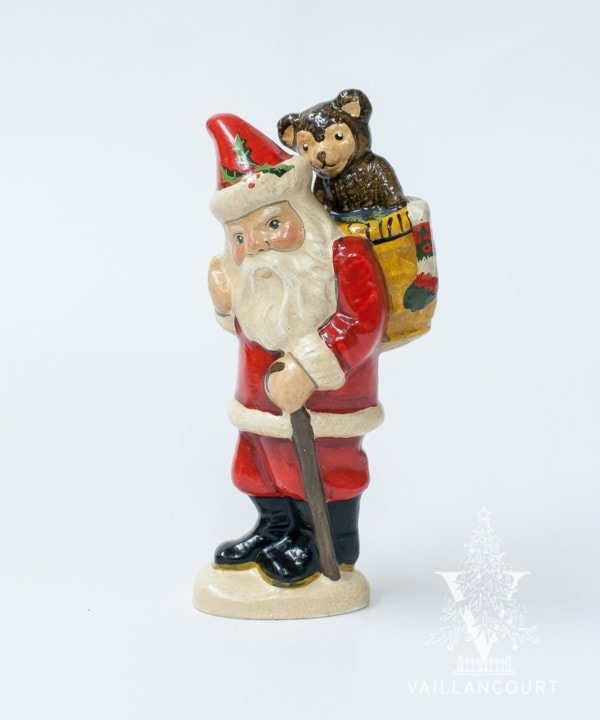 Teddy Bear Basket Santa, VFA Nr. 13035