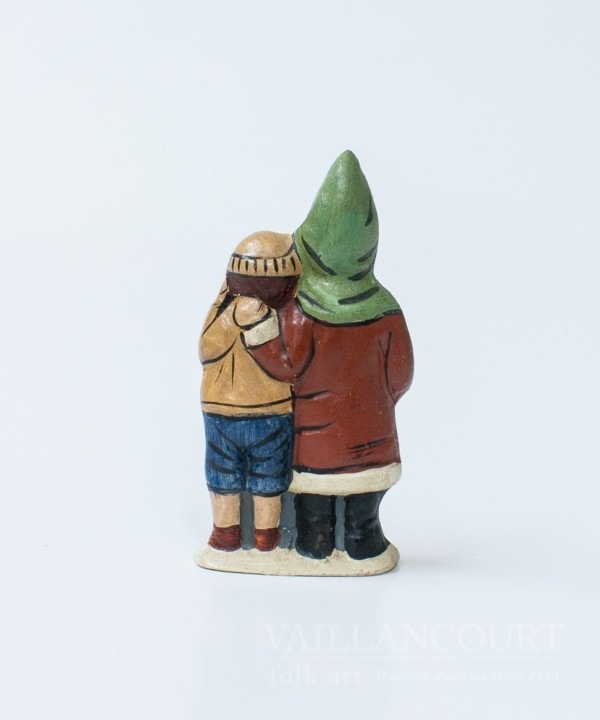 Miniature Father Christmas with Arm Around Boy, VFA Nr. 2002MS25