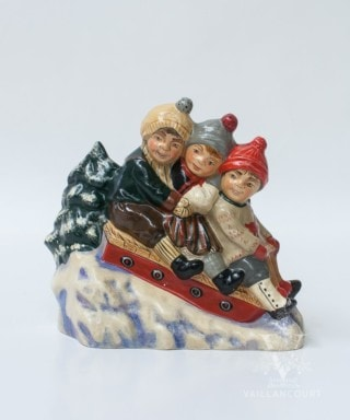 Three Children on a Sled, VFA Nr. 9636