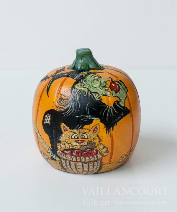 Assorted one-of-a-kind chalkware pumpkins, VFA Nr. 2008-60a