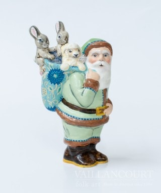 Colonial Santa with Bunnies, VFA Nr. 17060