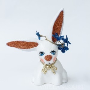 One of a kind Chalkware Spring Floppy Eared Bunny, VFA Nr. 17075
