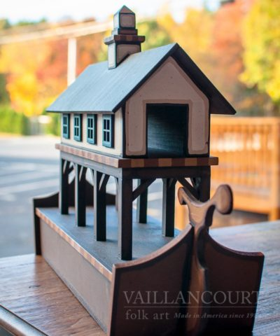 Hand carved Noah's Ark exclusively for Vaillancourt Folk Art by Mo Dallas