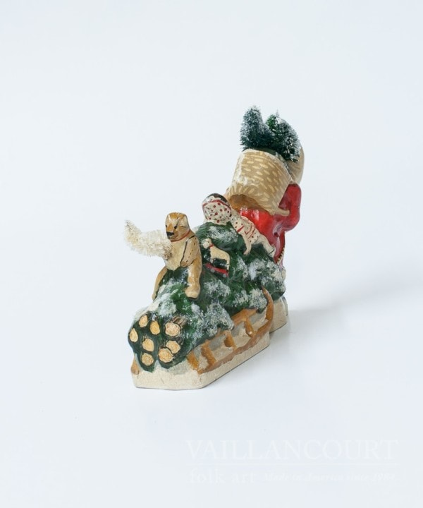Colonial Father Christmas Pulling Sleigh of Folk Art Toys, VFA Nr. 17083
